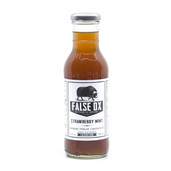 False OX, Strawberry Mint Shrub (355 mL)