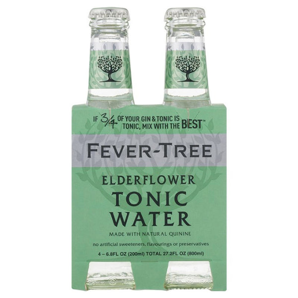 Fever-Tree, Elderflower Tonic Water (4 x 200mL)