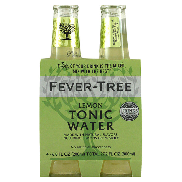 Fever-Tree, Lemon Tonic Water (4 x 200mL)