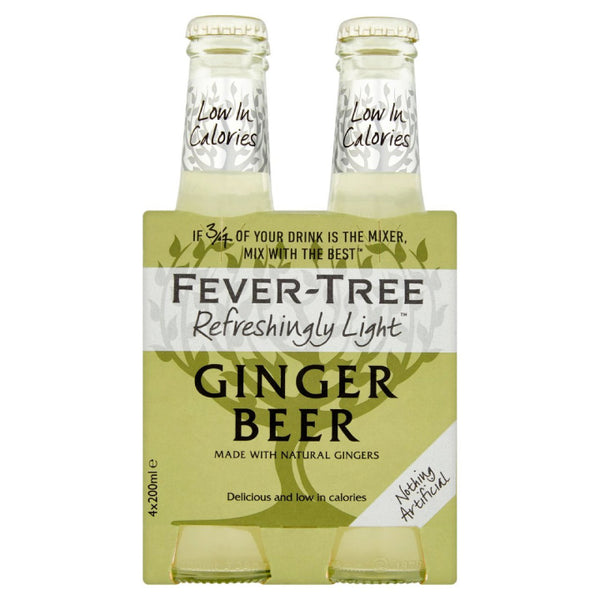 Fever-Tree, Light Ginger Beer (4 x 200mL)