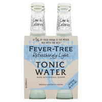 Fever-Tree, Light Premium Indian Tonic Water (4 x 200mL)
