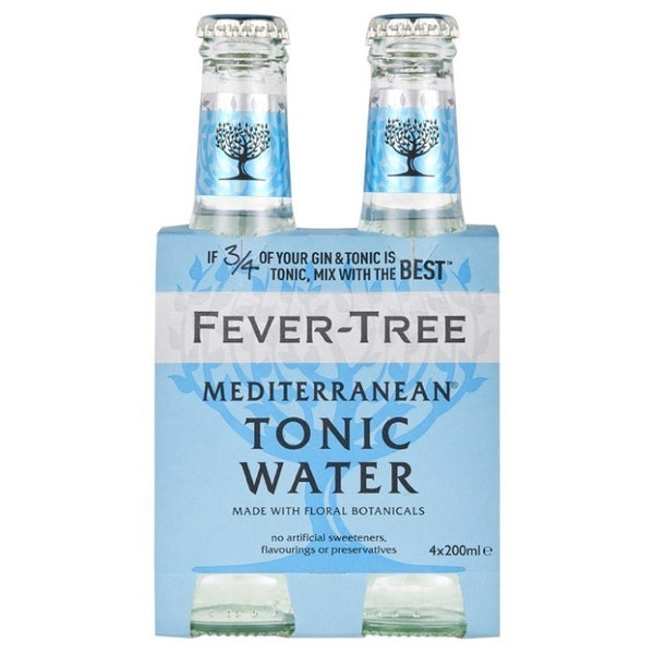 Fever-Tree, Mediterranean Tonic Water (4 x 200mL)