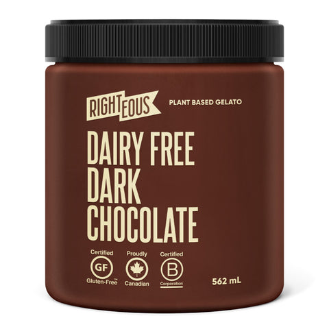 Righteous, Dairy Free Dark Chocolate Gelato (562mL)