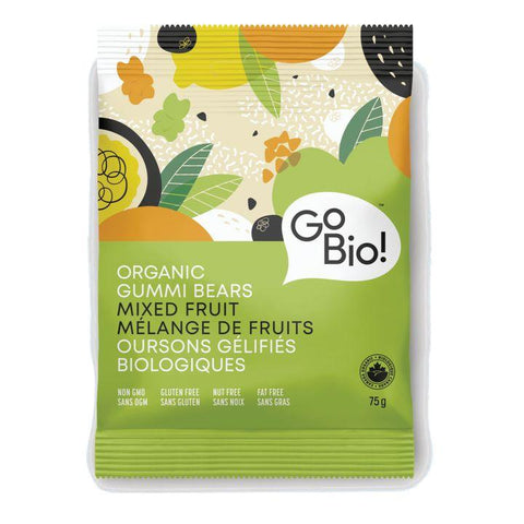 Go Bio!, Organic Gummi Bears | Mixed Fruit (75g)