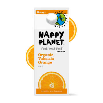 Happy Planet, Organic Valencia Orange Juice (1.75L)