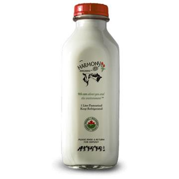 Harmony Organic Dairy, 3.8% Milk - Glass Bottle (1L)