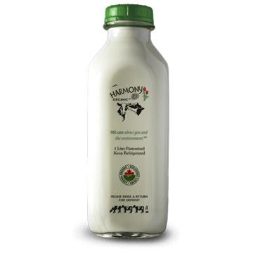Harmony Organic Dairy, Skim Milk - Glass Bottle (1L)