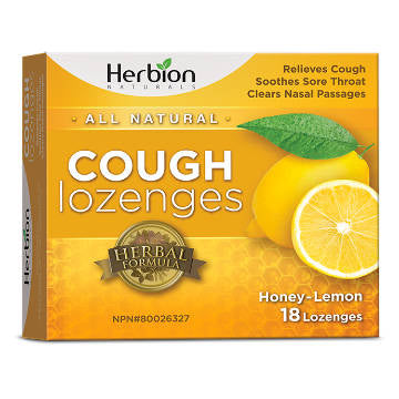 Herbion, Honey-Lemon Cough Lozenges | Qty 18 Lozenges