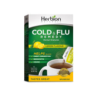 Herbion Naturals, Cold & Flu Remedy | Lemon Flavour (10 Sachets x 5.4g)