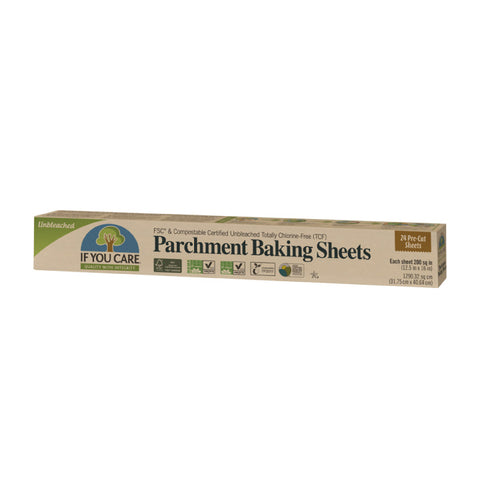 If You Care...Parchment Baking Paper Sheets (24 Precut Sheets, 12.5 in. x 16 in.)