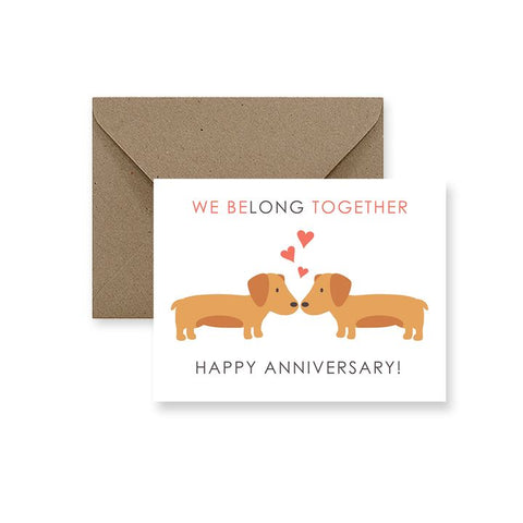 ImPaper, Belong Together Happy Anniversary Greeting Card