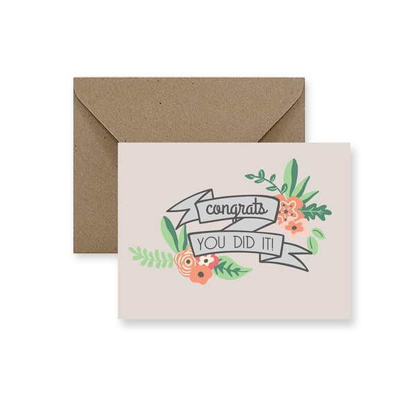 ImPaper, Congrats You Did It! Greeting Card