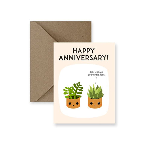 ImPaper, Happy Anniversary Life Without You Would Succ Greeting Card
