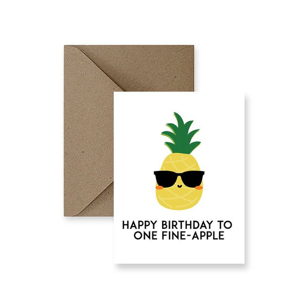 ImPaper, Happy Birthday to One Fine-Apple Greeting Card