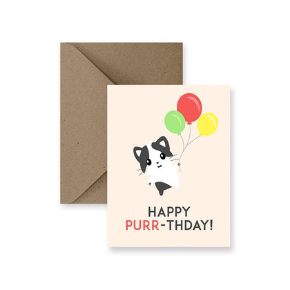 ImPaper, Happy Purr-thday Greeting Card