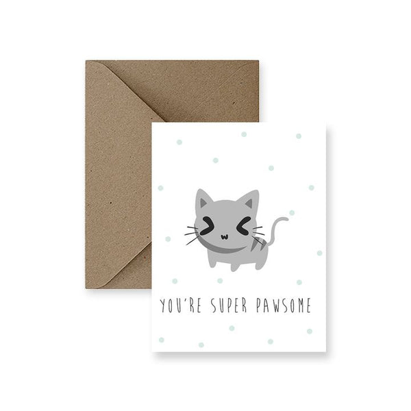 ImPaper, You're Super Pawsome Greeting Card