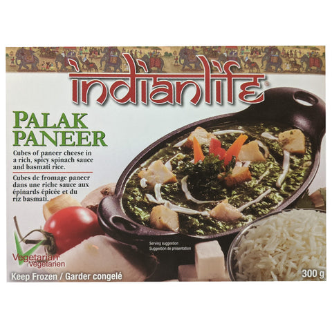 Indialife, Frozen Palak Paneer Meal (300g)