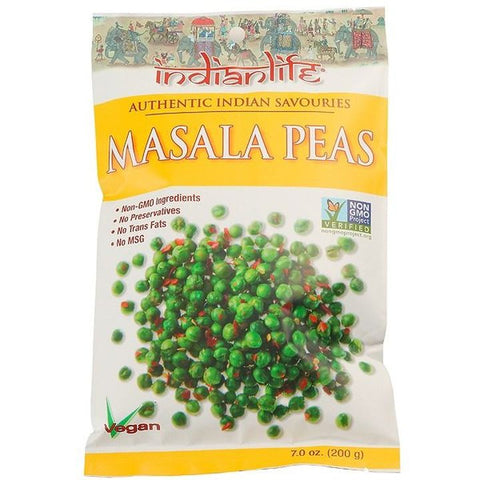 Indialife, Masala Peas Indian Snack (200g)