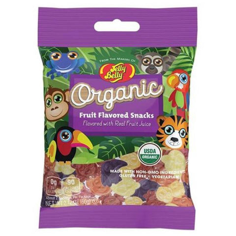 Jelly Belly, Organic Assorted Fruit Flavoured Snack (60g)