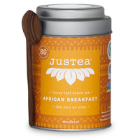 Justea, African Breakfast Loose Leaf Black Tea – Tin (100g)