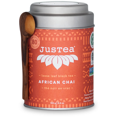 Justea, African Chai Loose Leaf Black Tea – Tin (115g)