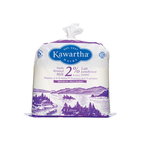 Kawartha Dairy, 2% Partly Skimmed Milk Bag (4L)