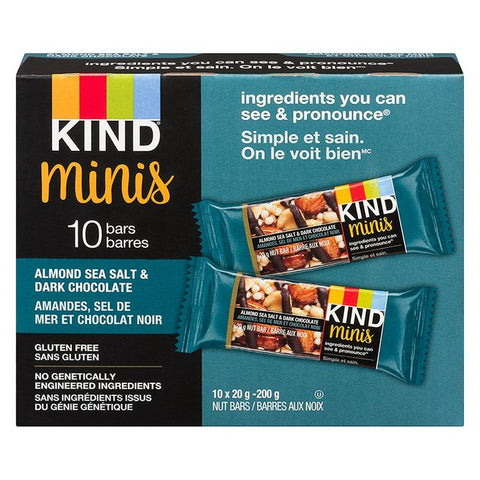 Kind, Almond Sea Salt & Dark Chocolate Mini Bars (10 x 20g - 200g)