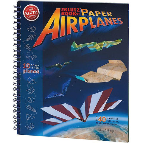 Klutz: Book of Paper Airplanes by D. Stillinger (SC, pp. 56)