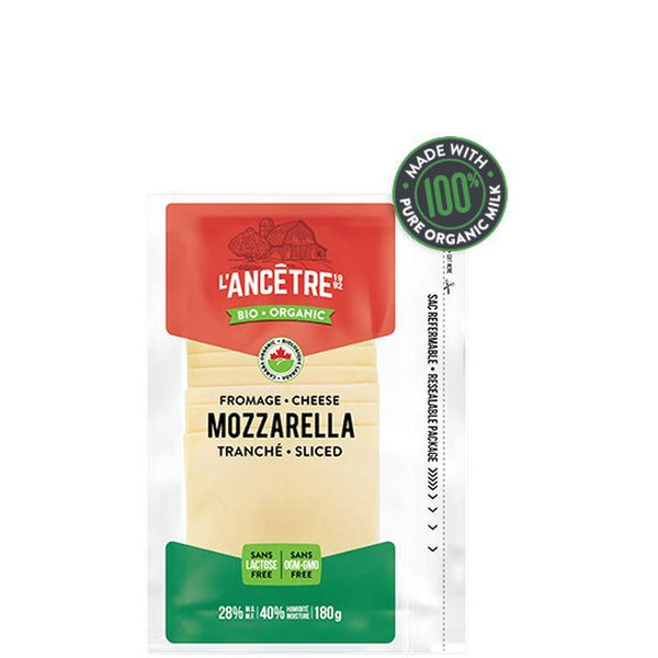 L'Ancêtre Cheese, Organic Mozzarella Slices (180g)