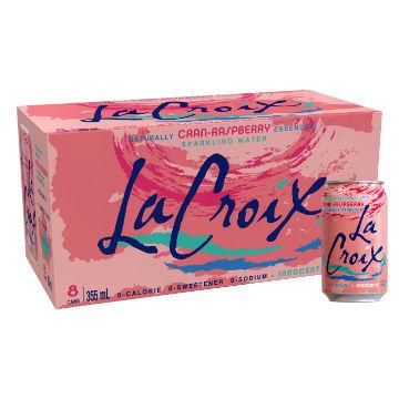 La Croix, Cran-Raspberry Sparkling Water (Case / 8 x 355ml)