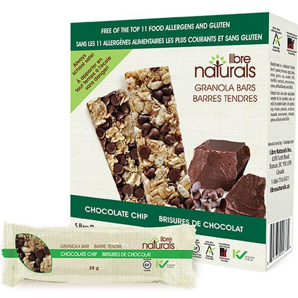 Libre Naturals, Chocolate Chip Granola Bars (5 Bars x 28g | 140g)
