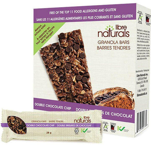 Libre Naturals, Double Chocolate Chip Granola Bars (5 Bars x 28g | 140g)