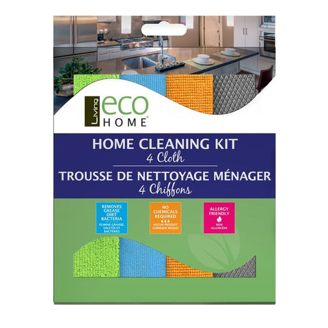 Living Eco Home, Cleaning Kit (Set of 4 Cloths)