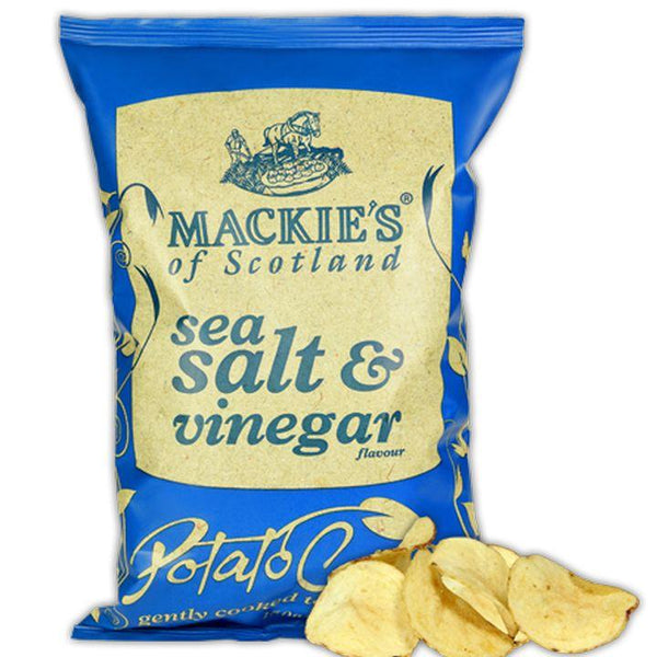 Mackie's of Scotland, Sea Salt & Vinegar Crisps/Potato Chips (150g)