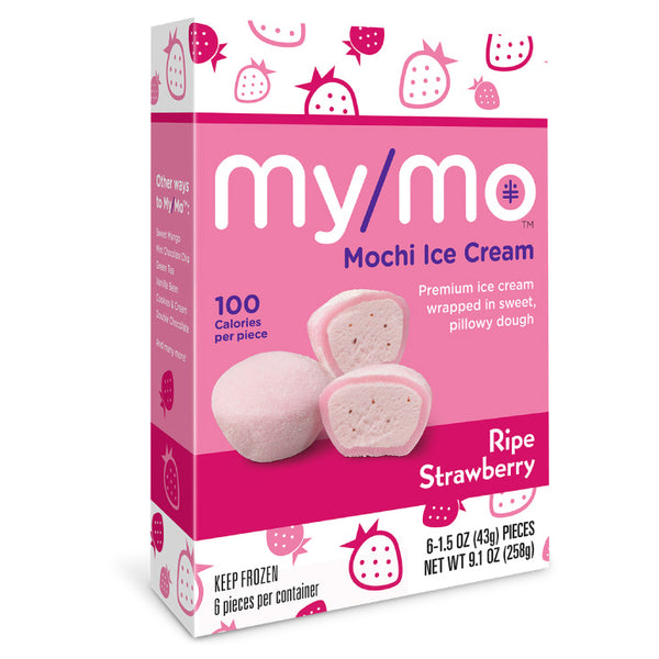 My/Mo Mochi, Ripe Strawberry Mochi Ice Cream (Box of 6 | 258g)