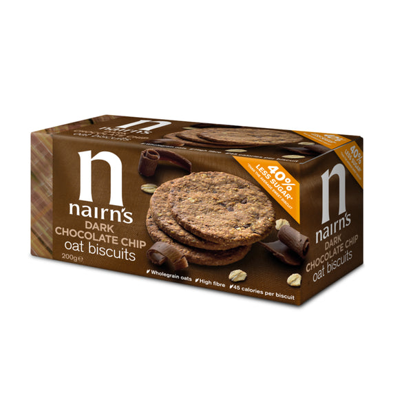 Nairn's, Dark Chocolate Chip Oat Cookies (200g)