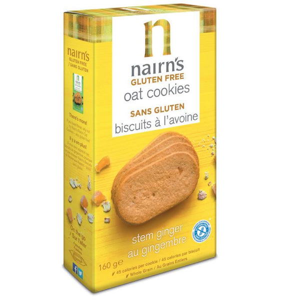 Nairn's, GF Oats & Stem Ginger Cookies (160g)