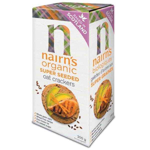 Nairn's, Organic Super Seeded Oat Crackers (200g)