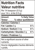 Nutrition Facts: Arvinda's, Garam Masala Spice (44g)