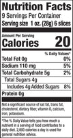 Nutrition Facts: Bubbies, Bread & Butter Chips' Pickle (1L)