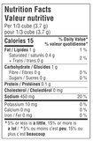 Nutrition Facts: GoBio! Organic Chicken Bouillon Cubes (66g)