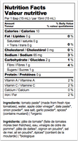 Nutrition Facts: Good Food for Good, Organic Ketchup Style Sauce (250mL)