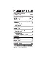 Nutrition Facts: Hardbite, All Natural Potato Chips (150g)