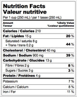 Nutrition Facts: Kensington Market, Classic Cream of Mushroom Soup (730mL)