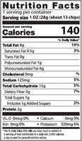 Nutrition Facts: Kettle Brand, Backyard Barbeque Potato Chips (220g)