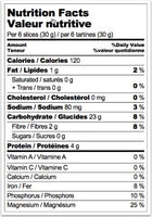 Nutrition Facts: Le Pain Des Fleurs, Organic GF Buckwheat Crisp Bread (150g)
