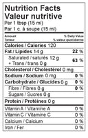 Nutrition Facts: Naked Coconuts, Cold Pressed Organic Virgin Coconut Oil (444mL)