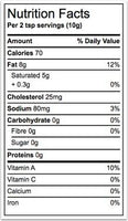 Nutrition Facts: Stirling Creamery, Whey Butter (454g)