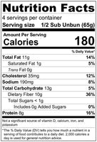 Nutrition Facts: Unbun, Mini Baguettes (260g)