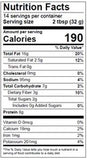 Nutrition Facts: Wild Friends, Classic Peanut Butter (500g)